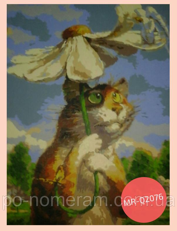 картина акрилом кот