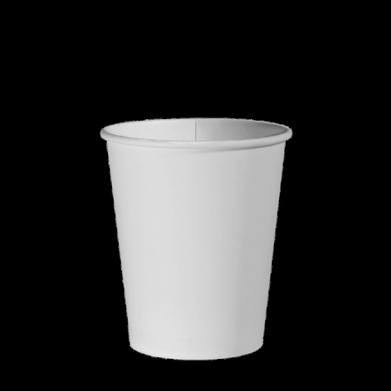 Стакан бумажный Белый 300мл. 50шт/уп (1ящ/20уп/1000шт) (КВ80)