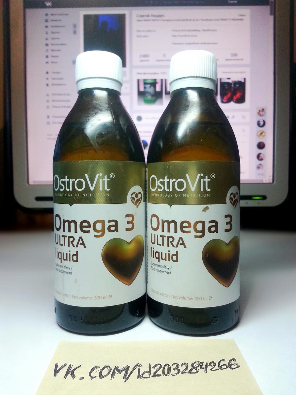 Омега 3 жирные кислоты OstroVit Omega 3 Ultra Liquid 300мл