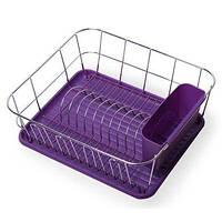 Сушилка для посуды фиолетовая Kamille KM-0763C