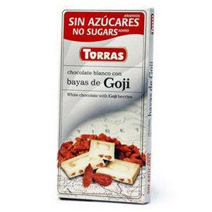 """Белый шоколад с ягодами годжи """"Torras"""", 75 г"""