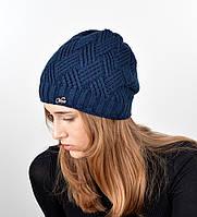 Женская шапка veilo на флисе 5522 синий