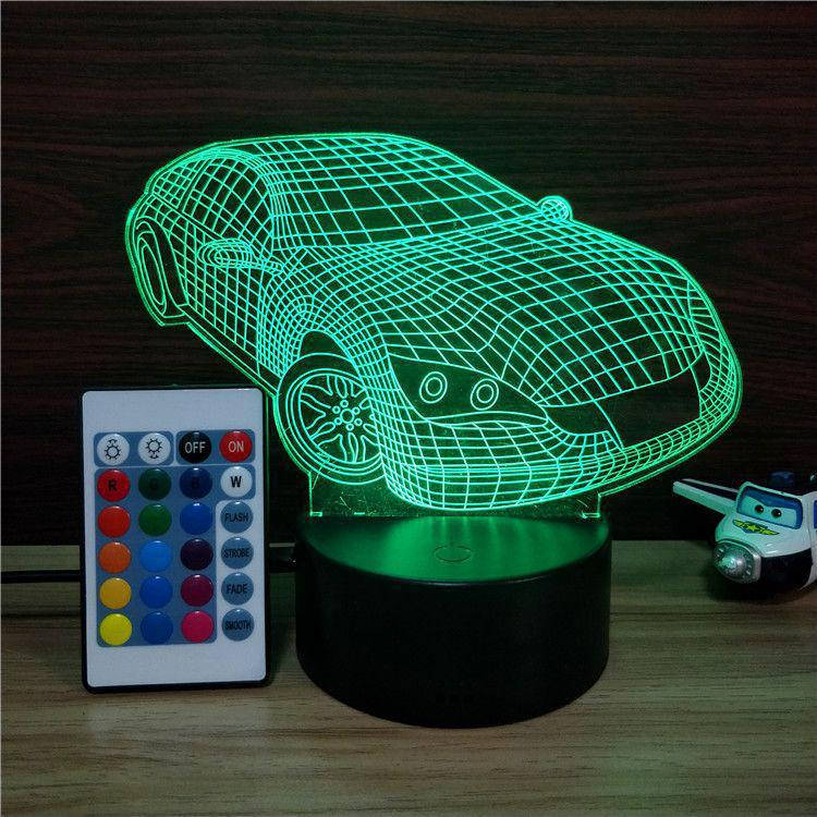 3D-лампа ночник с пультом Lumen Car