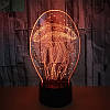 3D-лампа ночник с пультом Lumen Jelly, фото 3