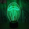 3D-лампа ночник с пультом Lumen Jelly, фото 4