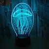 3D-лампа ночник с пультом Lumen Jelly, фото 7