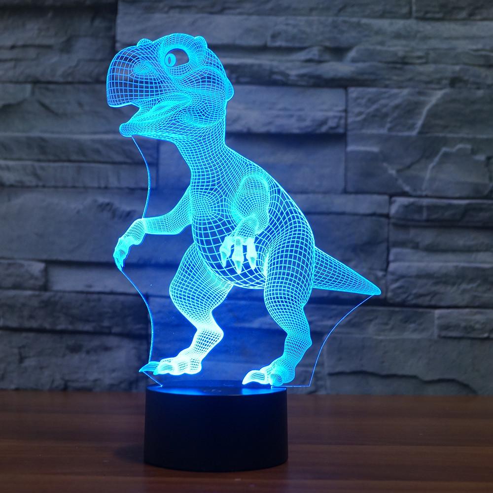 3D-лампа ночник с пультом Lumen Raptor