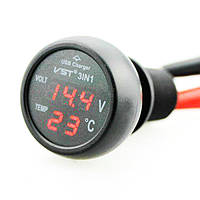 Многофункциональные Автомобильные Электронные Часы VST 706-5 Термометр-Вольтметр, фото 1