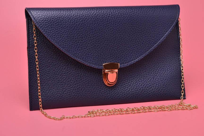 Клатч конверт сумочка Vega dark blue