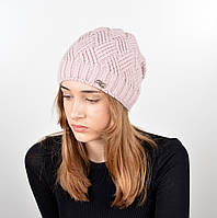 Женская шапка veilo на флисе 5522 пудра