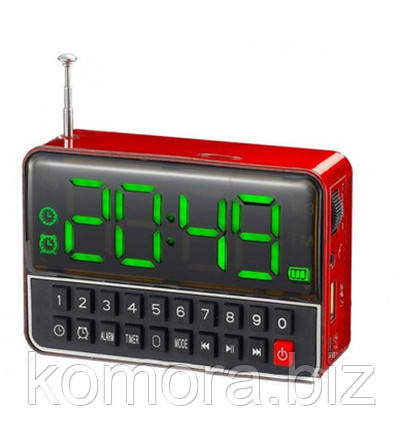 Мобильная Аккумуляторная Колонка Часы WS-1513 BT Bluetooth USB FM SPS CR562