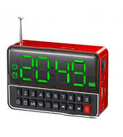 Мобильная Аккумуляторная Колонка Часы WS-1513 BT Bluetooth USB FM SPS CR562, фото 1