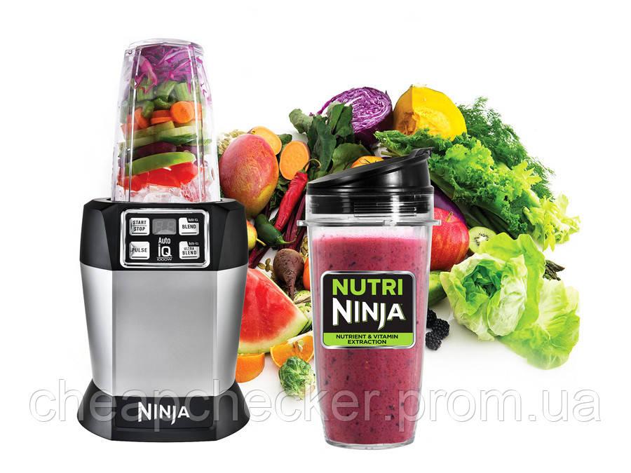 Мощный Кухонный Комбайн Пищевой Процессор Nutri Ninja Auto iQ Умный Блендер