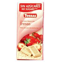 """Белый шоколад с клубникой """"Torras"""", 75 г"""
