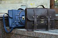 Мужской кожаный портфель А4 | Винтажный Кофе, фото 1