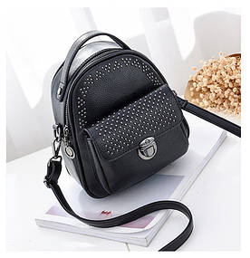 Рюкзак мини женский Fancy black