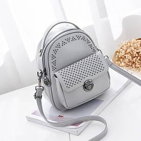 Рюкзак мини женский Fancy gray