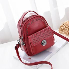 Рюкзак мини женский Fancy red