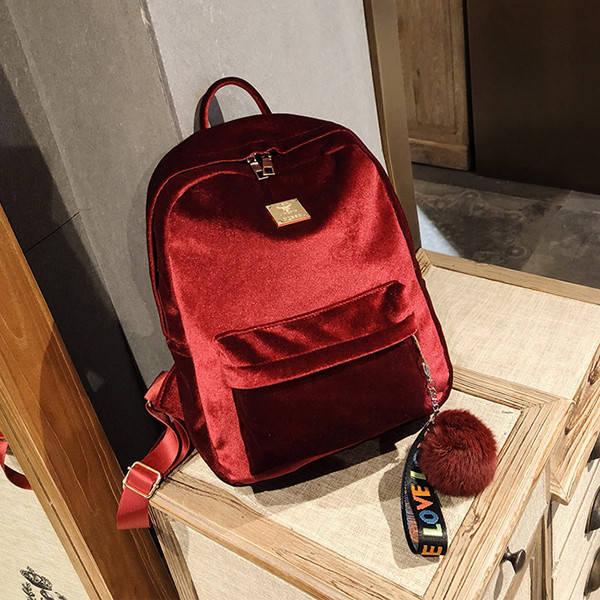 Рюкзак городской женский Plush bordo