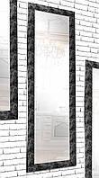 Зеркало настенное в раме Factura Black pattern 60х174 см черный, фото 1