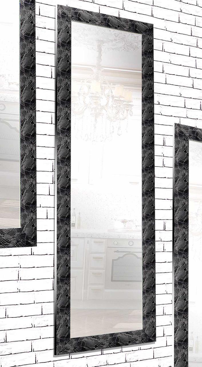 Зеркало настенное в раме Factura Black pattern 60х174 см черный