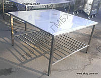 Усиленный нержавеющий стол 1400х1400 для упаковки продукции