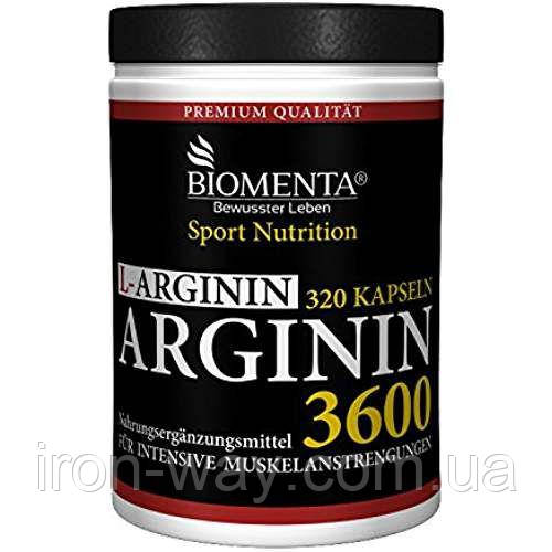 Biomenta L-Arginin 3600 mg 320 caps