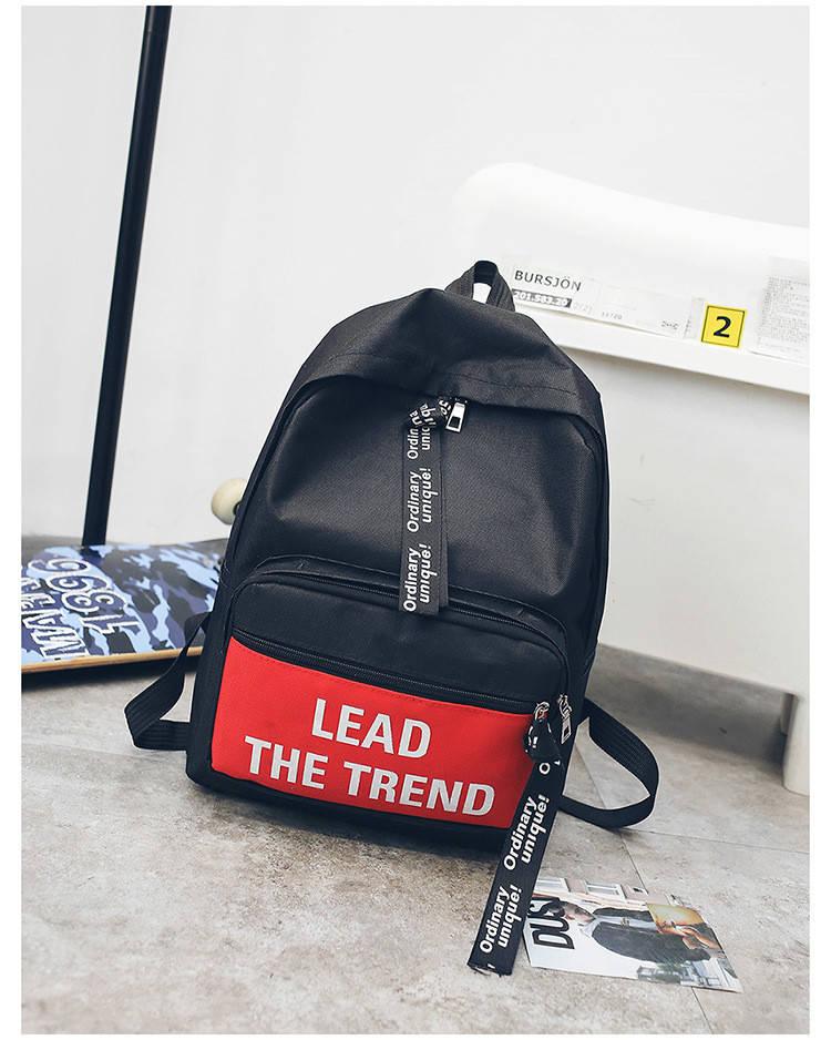 Рюкзак городской Trendtime black-red