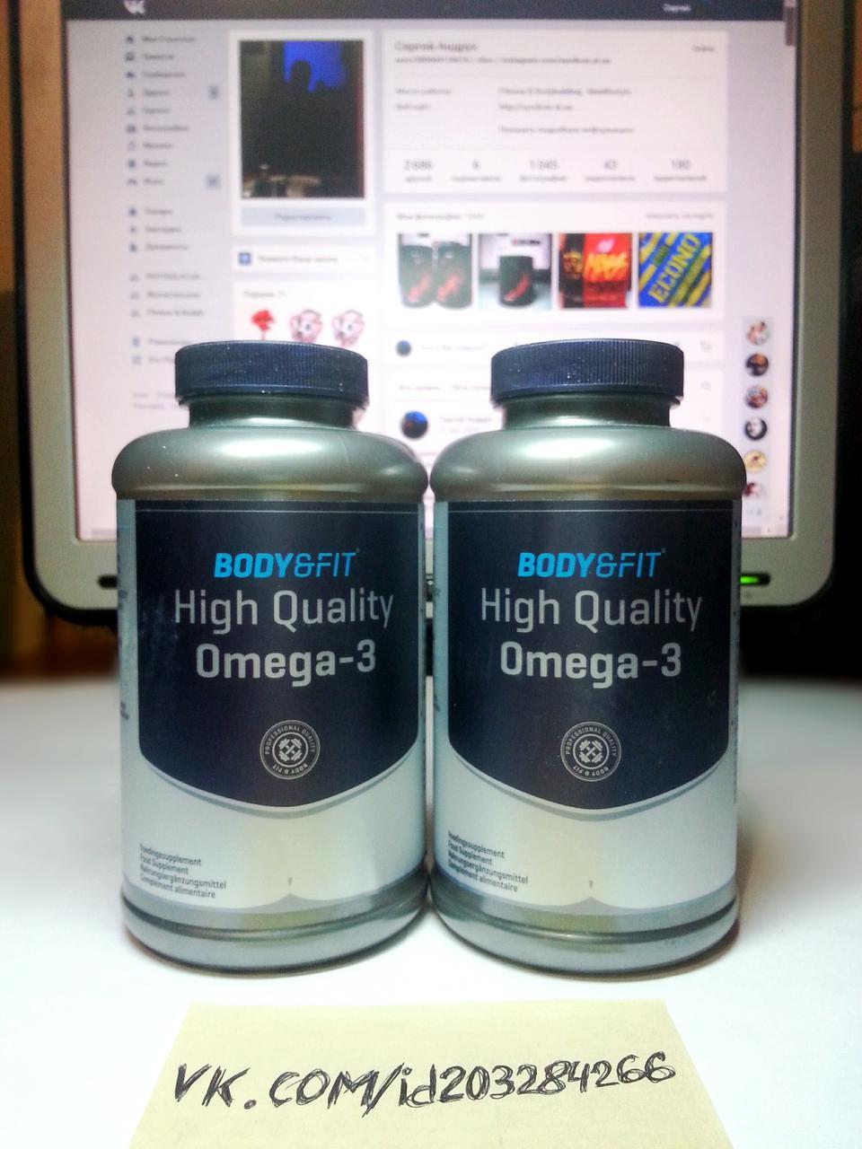 Омега 3, Body & Fit High Quality Omega 3 180 капс