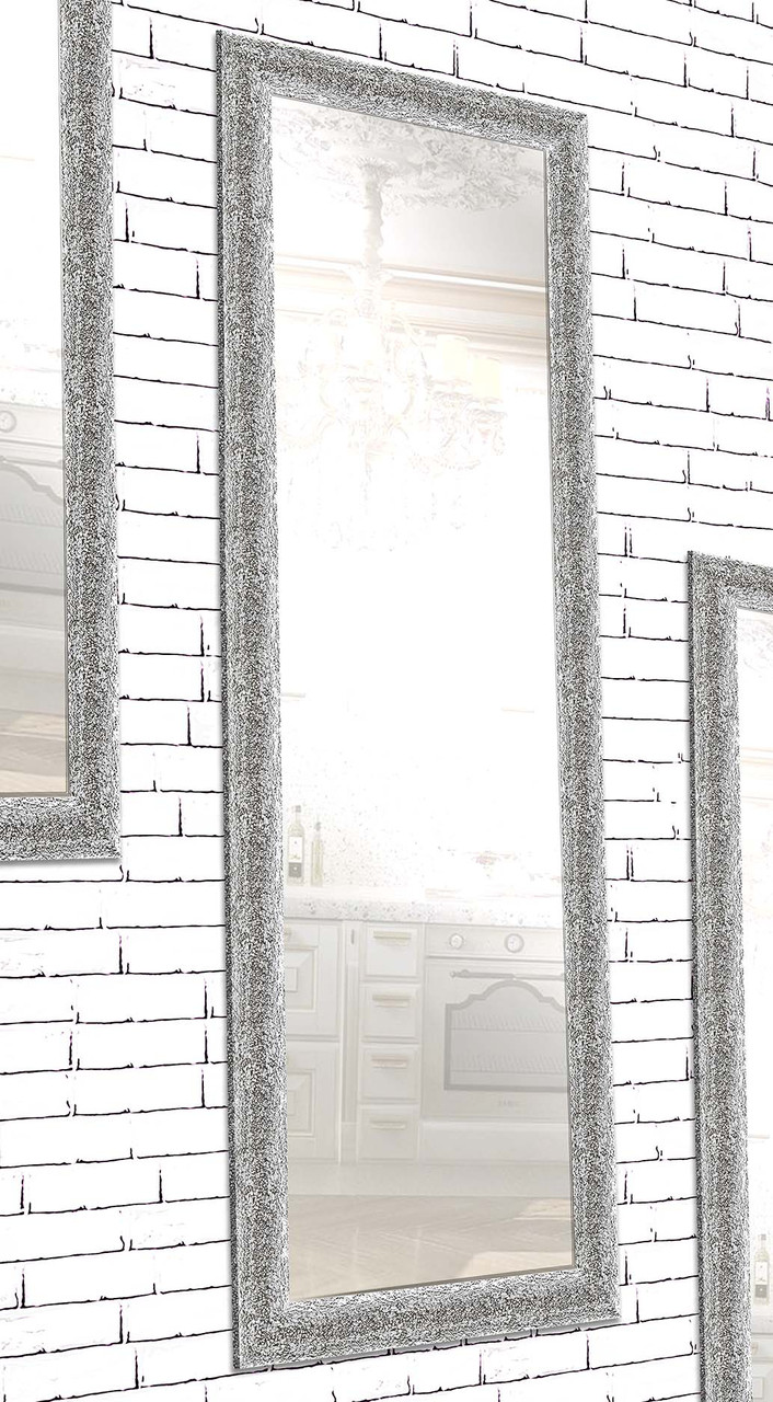 Зеркало настенное Factura в пластиковом багете Silver crum 60х174 см серебро