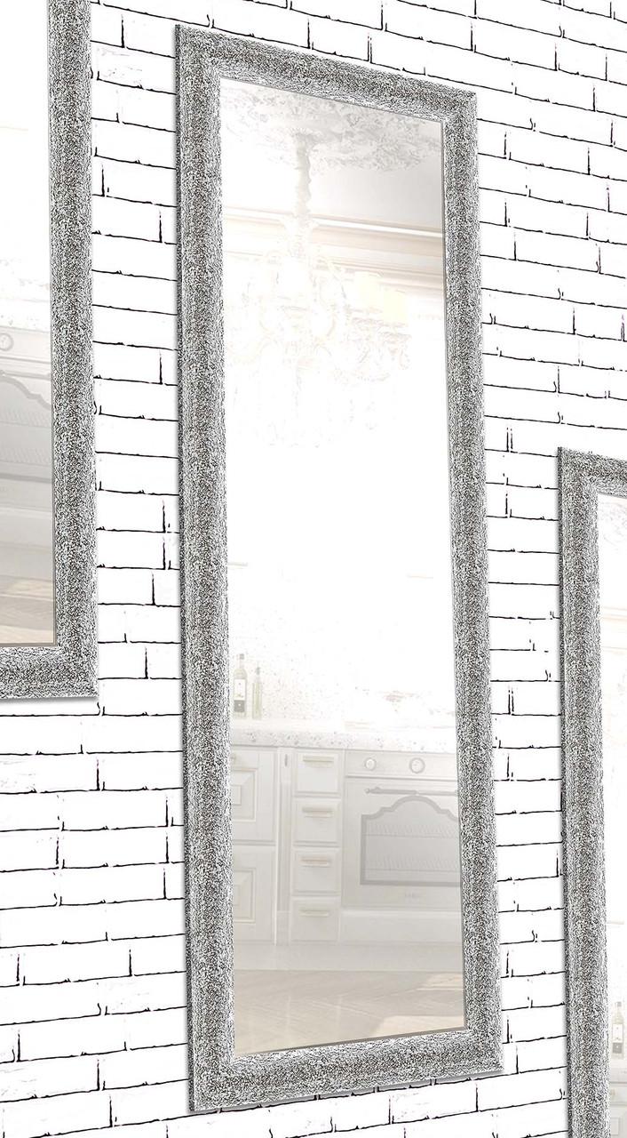 Зеркало настенное в раме Factura Silver crum 60х174 см серебро