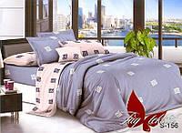 Комплект постельного белья из сатина евро с компаньоном S-156