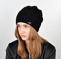 Женская шапка veilo на флисе 5522 черный, фото 1