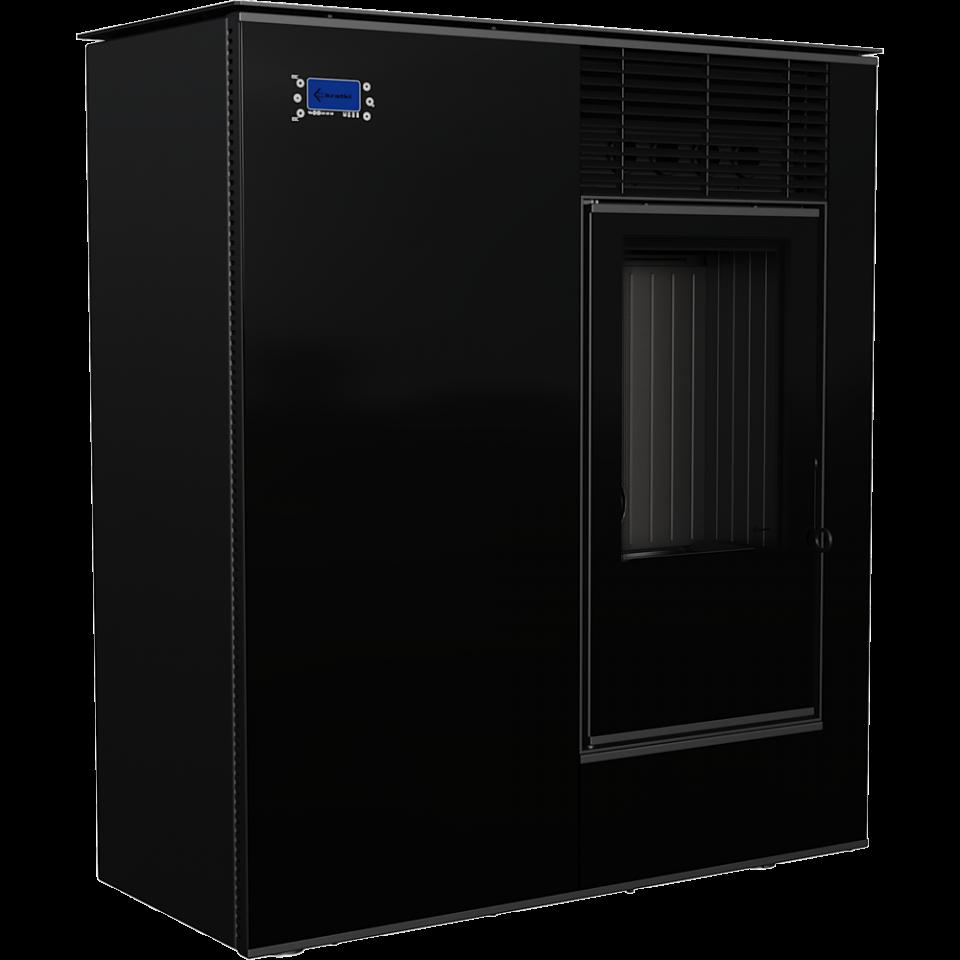 Отопительная печь Kratki Viking 8 кВт черная пеллетная