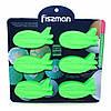 """Форма для выпечки 6 кексов """"Самолеты"""" 22x20x2,5см цвет Зеленый чай (силикон) Fissman (BW-6727.6)"""