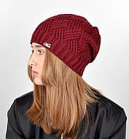 Женская шапка veilo на флисе 5522 марсала, фото 1