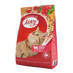 Влажный корм для кошек Мяу! консерва говядина в нежном соусе, 415 г (банка)