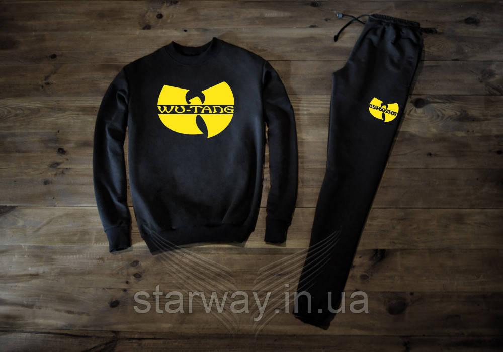 Трикотажный чёрный костюм Wu-Tang Clan logo