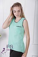 Майка-блузка «Оливия»| Мятный 42, 46, 48 р-р., фото 1