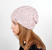 Женская шапка veilo на флисе 3332 пудра, фото 1