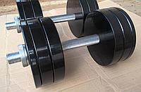 Гантели наборные металлические с покрытием 2*20кг (Общий вес 40 кг), фото 1