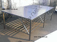 Стол нержавеющий 2500х1400 для упаковки продукции, фото 1