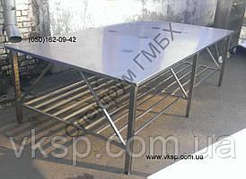 Стол нержавеющий 2500х1400 для упаковки продукции