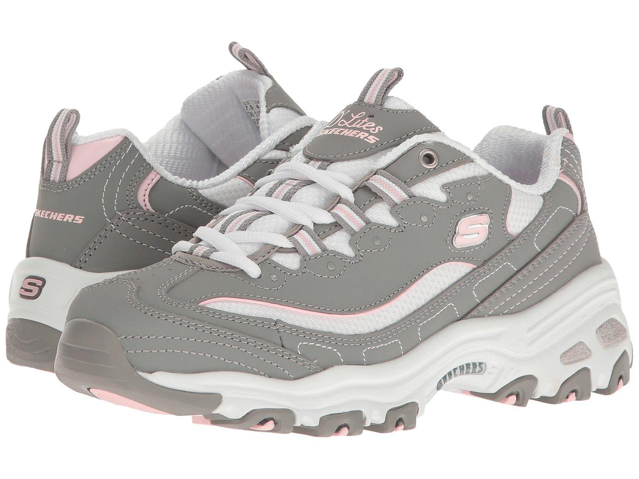 Кроссовки SKECHERS D Lites - Biggest Fan Gray White - Оригинал - Интернет  магазин 1972a2910fd
