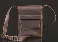 Кожаная вертикальная сумка Aspen | Винтажный Кофе, фото 1