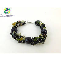 """Эксклюзивный браслет """"Подводный мир"""" Аметист, Изысканный браслет из натурального камня, красивый браслет"""