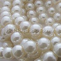 Жемчуг керамический 8 мм кремовый (100-110 шт)