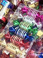 Новогоднее Интерьерное Украшение Елочная Игрушка Конфетка Разноцветная Набор 6 шт, фото 1