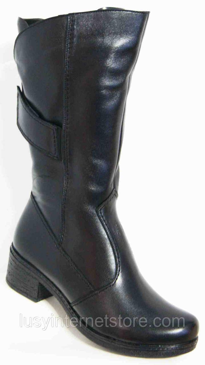 Сапоги женские кожаные зимние большого размера, женская обувь больших размеров от производителя модель МИ1432К