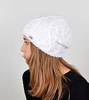 Женская шапка veilo на флисе 3332 белый